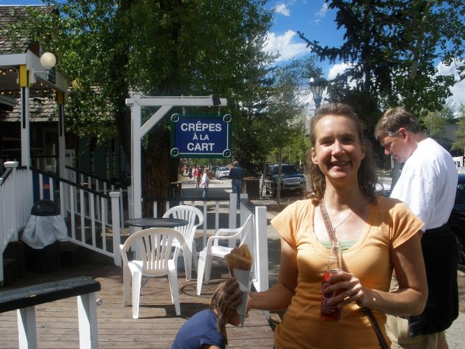 Snack in Breck before teaching dance (June 2010)