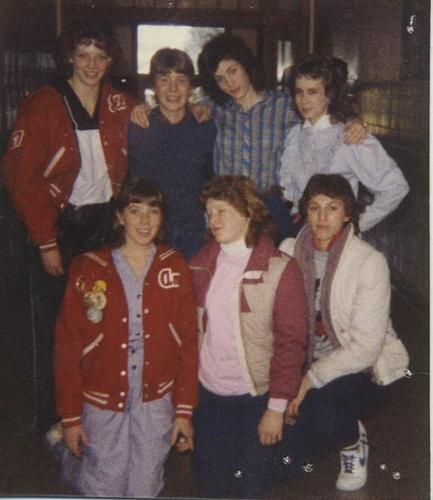 9th grade (1984): back: Jill, Jason, Connie, Steph; front: Amy, Heather, Shelly